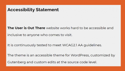 Screenshot of accessibility statement.